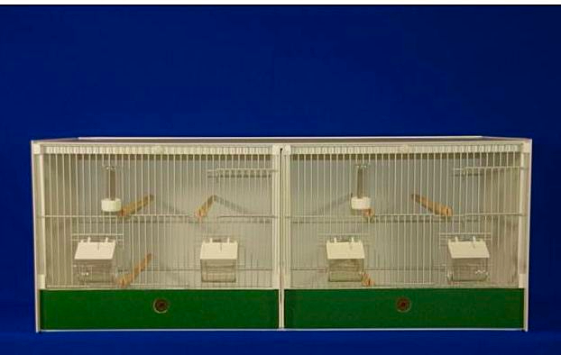 JH DOUBLE BREEDING CAGE -  FINCH / CANARY ~ 102X40X40