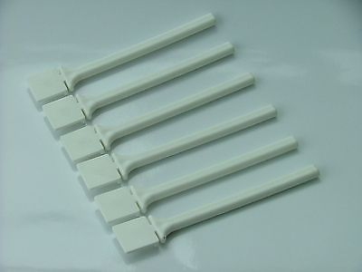 WHITE PLASTIC TWIST on CAGE PERCHES 16cm
